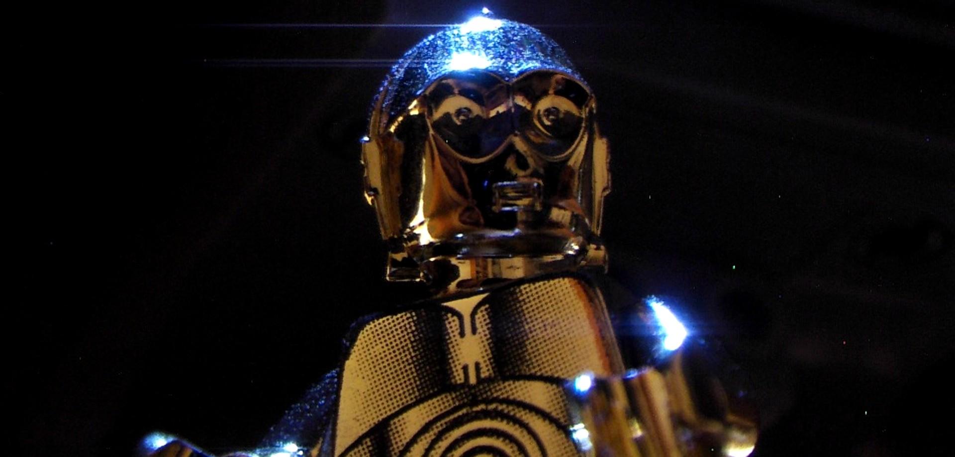 C-3PO Under Lights